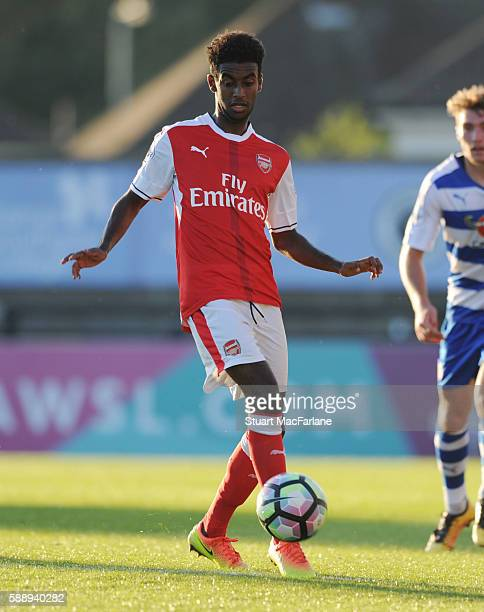 Gedion Zelalem of Arsenal during the Premier League 2 match between Arsenal and Reading at Meadow Park on August 12 2016 in Borehamwood England