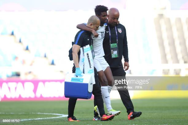Gedion Zelalem of USA is seen injured during the FIFA U20 World Cup Korea Republic 2017 group F match between Ecuador and USA at Incheon Munhak...