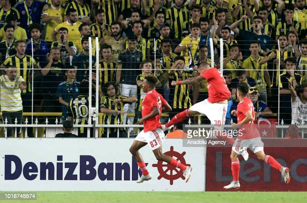 Gedson Fernandes of Benfica celebrates his goal during UEFA Champions League third qualifying round's second leg match between Fenerbahce and Benfica...