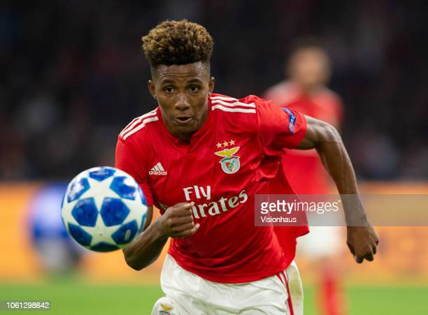 Gedson Fernandes of Benfica during the UEFA Champions League Group E match between AFC Ajax v SL Benfica at the Johan Cruff ArenA on October 23 2018...