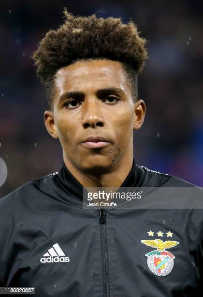 Gedson Fernandes of Benfica during the UEFA Champions League group G match between Olympique Lyonnais and SL Benfica at Groupama Stadium on November...