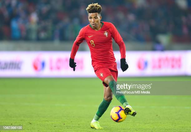 Gedson Fernandes of Portugal U21 in action during the European Under21 Championship Qualifier match between Poland U21 and Portugal U21 on November...
