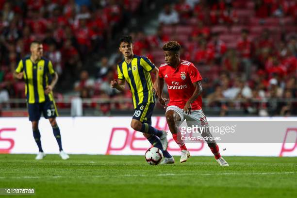 Gedson Fernandes of SL Benfica during the match between SL Benfica and Fenerbache SK for UEFA Champions League Qualifier at Estadio da Luz on August...