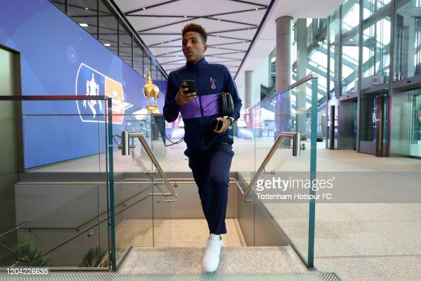 Gedson Fernandes of Tottenham Hotspur arrives at the stadium prior to the FA Cup Fourth Round Replay match between Tottenham Hotspur and Southampton...