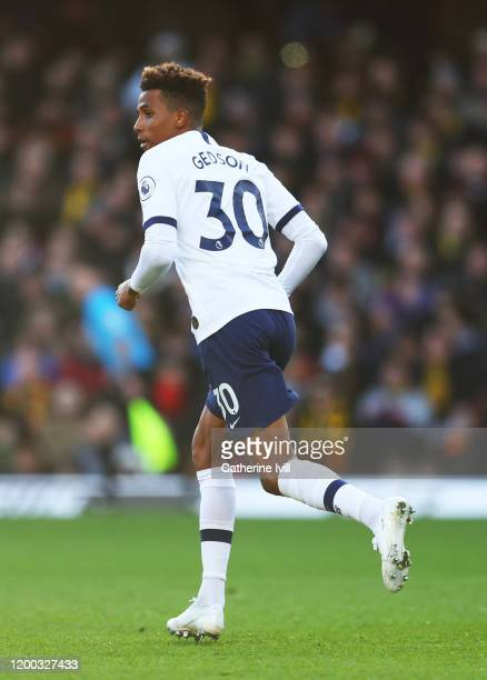 Gedson Fernandes of Tottenham Hotspur during the Premier League match between Watford FC and Tottenham Hotspur at Vicarage Road on January 18, 2020...