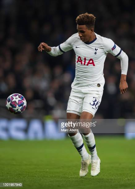 Gedson Fernandes of Tottenham Hotspur during the UEFA Champions League round of 16 first leg match between Tottenham Hotspur and RB Leipzig at...