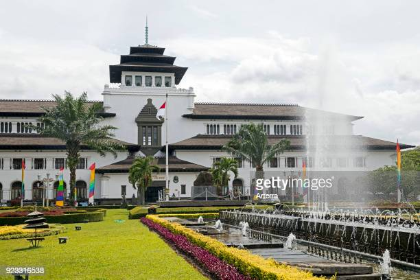 Gedung Sate, Dutch colonial building in Indo-European style, former seat of the Dutch East Indies in the city Bandung, West Java, Indonesia.