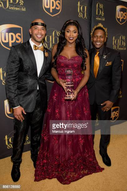 Gee Smalls Amiyah Scott and Juan Smalls attend The 6th Annual Gentlemen's Ball at Atlanta Marriott Marquis on September 30 2017 in Atlanta Georgia