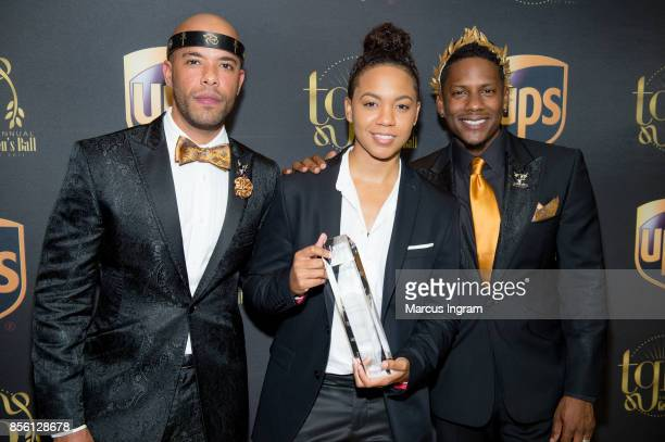 Gee Smalls Tyra B and Juan Smalls attend The 6th Annual Gentlemen's Ball at Atlanta Marriott Marquis on September 30 2017 in Atlanta Georgia