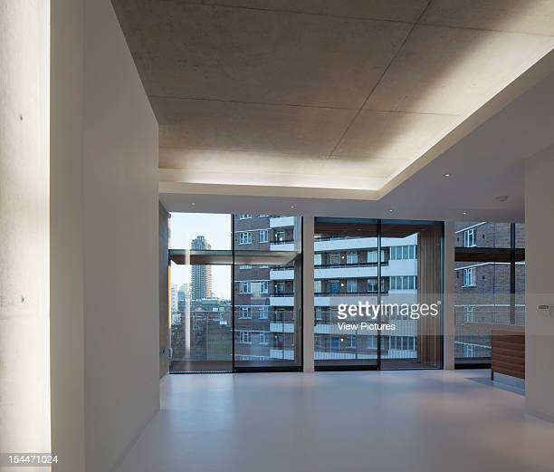 Gee Street Offices And Apartments Munkenbeck Partners Architects London United Kingdom Interior View Through Of Unfurnished Penthouse Apartment...