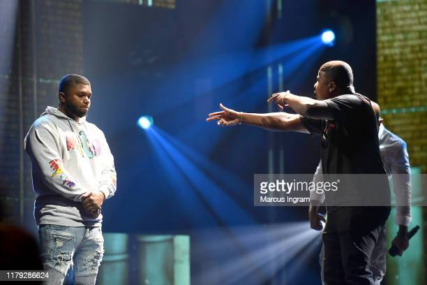 Geechi Gotti and DNA perform onstage at the BET Hip Hop Awards 2019 at Cobb Energy Center on October 05 2019 in Atlanta Georgia