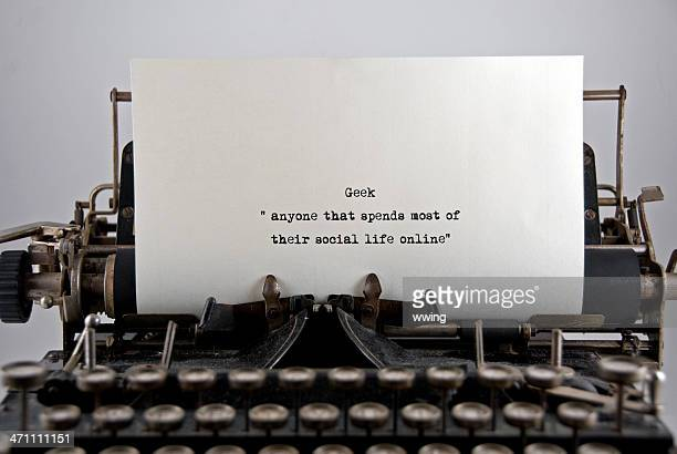 geek.の定義 - タイプライター ストックフォトと画像