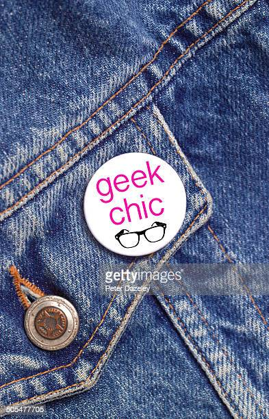 Geek chic button badge