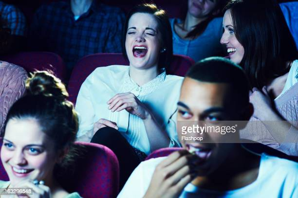 geeky guy and girl on a date at the movies - her 2013 film stock photos and pictures