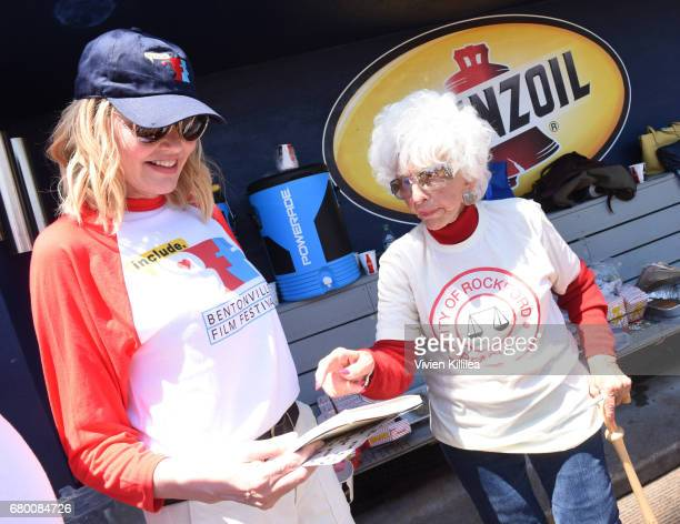 Geena Davis and baseball player Maybelle Blair attend A League of Their Own 25th Anniversary Game at the 3rd Annual Bentonville Film Festival on May...
