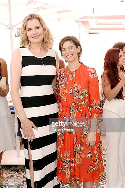 Geena Davis and Cindi Leive attend Glamour's Game Changers Lunch hosted by EditorinChief Cindi Leive Zendaya at AU FUDGE on April 20 2016 in West...