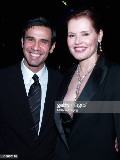 Geena Davis and guest during 58th Annual Primetime Emmy Awards Governors Ball at The Shrine Auditorium in Los Angeles California United States