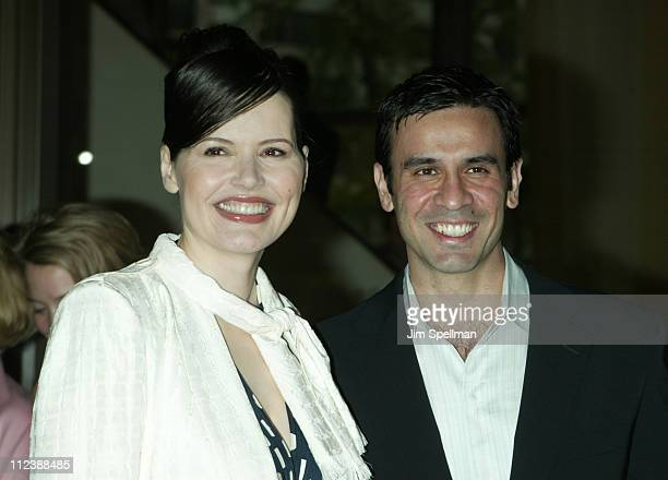 Geena Davis and husband Dr Reza Jarrahy during The Film Society of Lincoln Center Gala Tribute to Susan Sarandon at Avery Fisher Hall Lincoln Center...