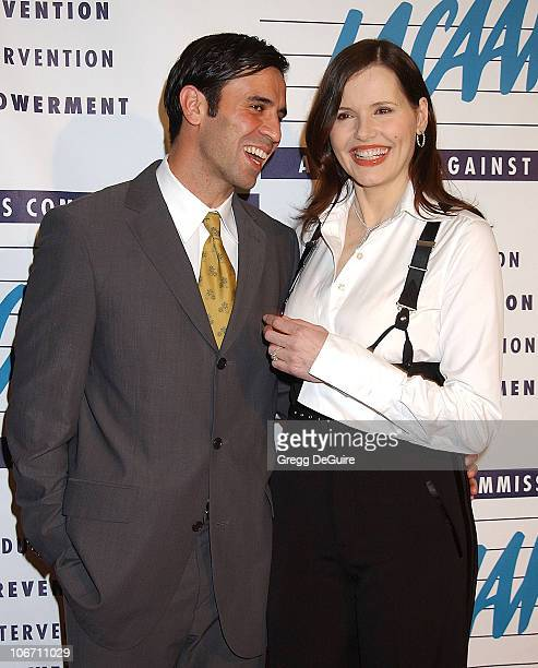 Geena Davis and husband Reza Jarrahy during LA Commission on Assaults Against Women Hosts its 31st Annual Humanitarian Awards at Fairmont Miramar...
