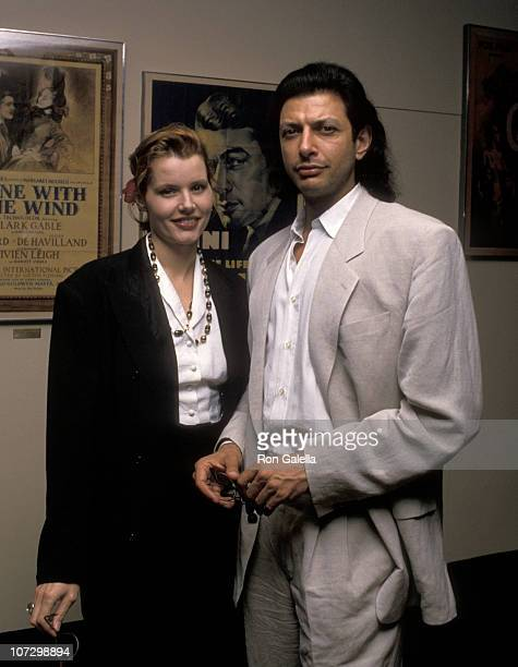 Geena Davis and Jeff Goldblum during Geena Davis and Jeff Goldblum sighted at the 7th Annual IDA Oscar Reception March 23 1989 at Academy Theater in...