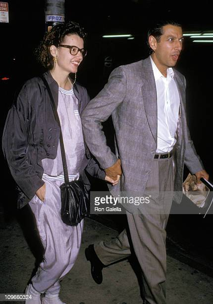 Geena Davis and Jeff Goldblum during Geena Davis and Jeff Goldblum sighted at the Performance of Madame Butterfly June 23 1988 in New York City New...