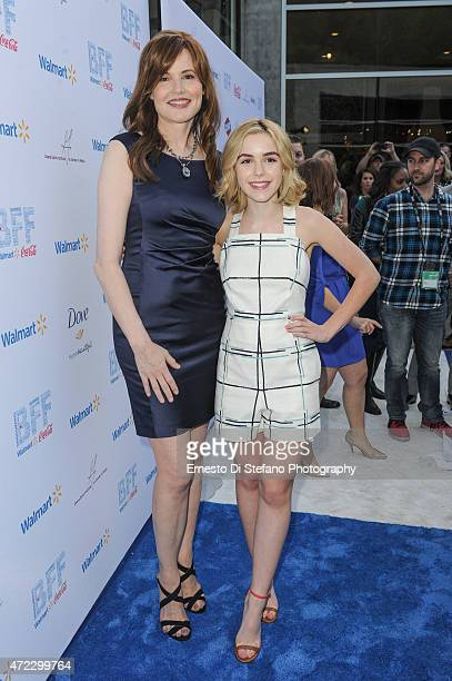 Geena Davis and Kiernan Shipka attend the 1st Annual Bentonville Film Festival opening day ceremony on May 5 2015 in Bentonville Arkansas
