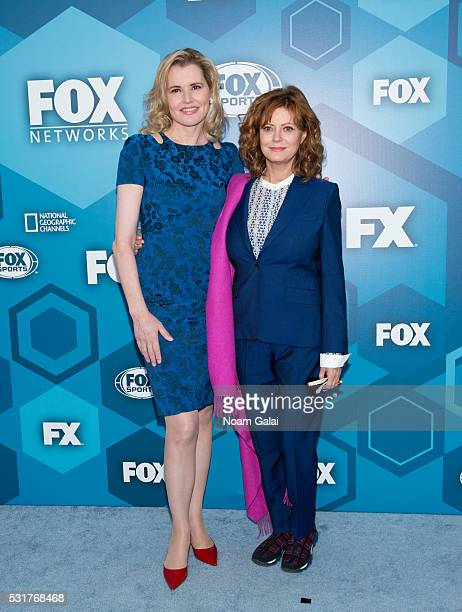 Geena Davis and Susan Sarandon attend the 2016 Fox Upfront at Wollman Rink Central Park on May 16 2016 in New York City