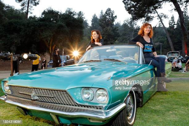 """Geena Davis and Susan Sarandon attend """"Thelma And Louise"""" 30th Anniversary drive-in charity screening experience hosted by MGM and Cinespia at The..."""