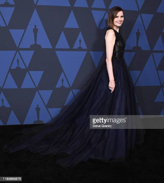 Geena Davis arrives at the Academy Of Motion Picture Arts And Sciences' 11th Annual Governors Awards at The Ray Dolby Ballroom at Hollywood &...