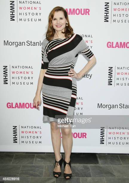 Geena Davis arrives at the National Women's History Museum's 3rd Annual Women Making History event held at Skirball Cultural Center on August 23,...