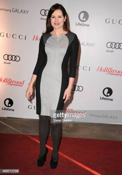 Geena Davis arrives at the The Hollywood Reporter's Women In Entertainment Breakfast Honoring Oprah Winfrey at Beverly Hills Hotel on December 11...