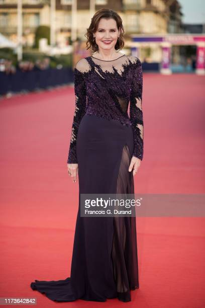 Geena Davis arrives to receive a tribute during the 45th Deauville American Film Festival on September 10, 2019 in Deauville, France.