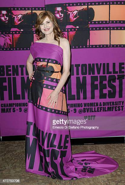 Geena Davis at the Bentonville Film Festival Award Show hosted by Soledad O'Brien and Nick Cannon at the Bentonville Film Festival on May 8 2015 in...