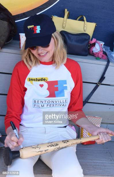 Geena Davis attends 'A League of Their Own' 25th Anniversary Game at the 3rd Annual Bentonville Film Festival on May 7 2017 in Bentonville Arkansas
