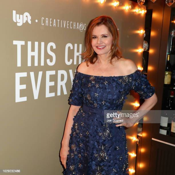Geena Davis attends a private dinner hosted by Lyft Entertainment a producing partner of 'This Changes Everything' in honor of its world premiere at...