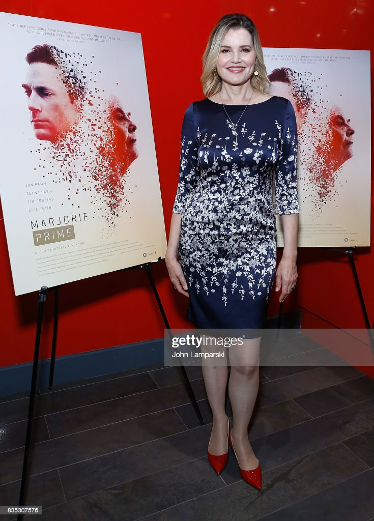 Geena Davis attends 'Marjorie Prime' New York premiere on August 18, 2017 in New York City.