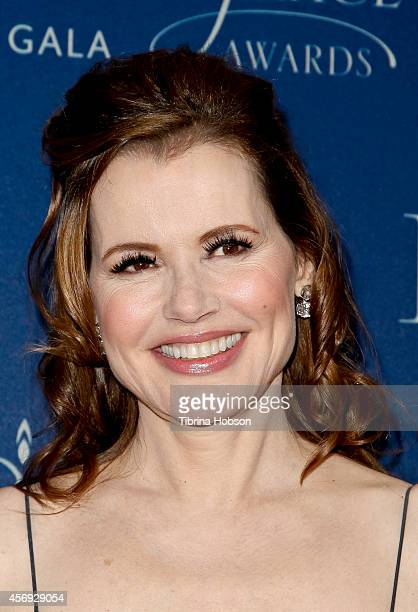 Geena Davis attends the 2014 Princess Grace awards gala at the Beverly Wilshire Four Seasons Hotel on October 8 2014 in Beverly Hills California