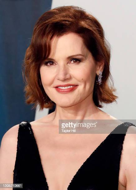 Geena Davis attends the 2020 Vanity Fair Oscar Party at Wallis Annenberg Center for the Performing Arts on February 09 2020 in Beverly Hills...