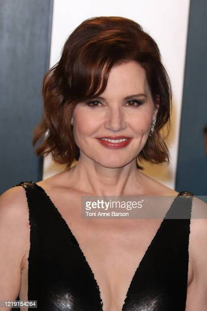 Geena Davis attends the 2020 Vanity Fair Oscar Party at Wallis Annenberg Center for the Performing Arts on February 09, 2020 in Beverly Hills,...
