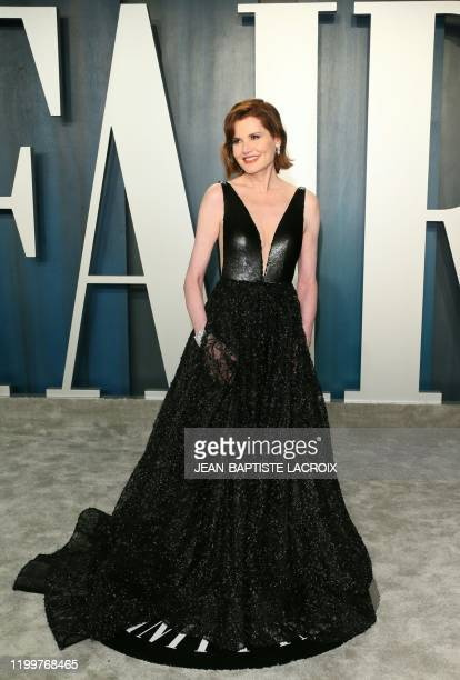 Geena Davis attends the 2020 Vanity Fair Oscar Party following the 92nd annual Oscars at The Wallis Annenberg Center for the Performing Arts in...