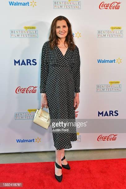 Geena Davis attends the 2021 Bentonville Film Festival opening night red carpet and filmmaker reception on August 04, 2021 in Bentonville, Arkansas.