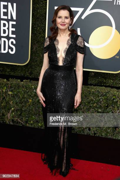 Geena Davis attends The 75th Annual Golden Globe Awards at The Beverly Hilton Hotel on January 7 2018 in Beverly Hills California