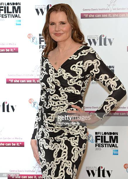 Geena Davis attends the Geena Davis symposium during the BFI London Film Festival at BFI Southbank on October 8 2015 in London England