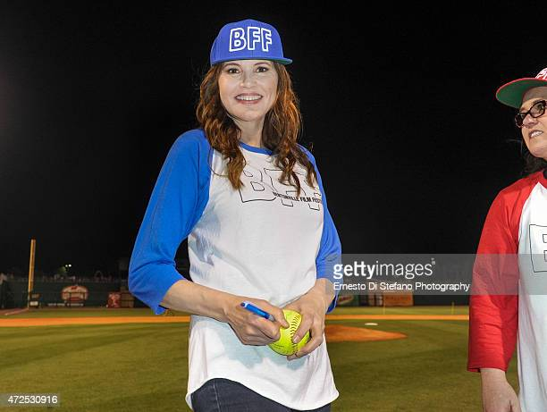 Geena Davis attends the League of their own event at Arvest Park hosted by Geena Davis and Rosie O'Donnell at the Bentonville Film Festival on May 7...