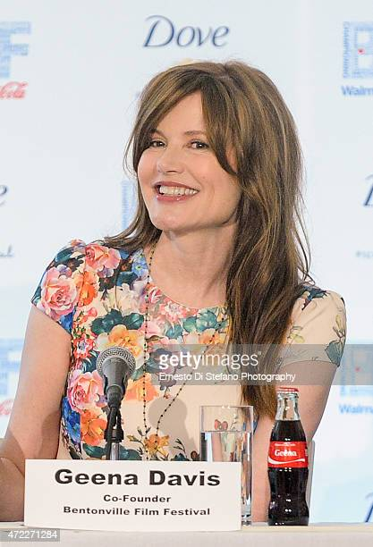 Geena Davis attends the Opening day press conference at the 1st Annual Bentonville Film Festival on May 5 2015 in Bentonville Arkansas