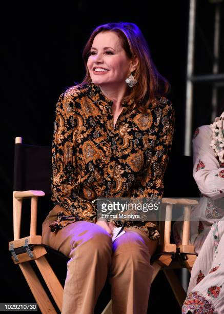 Geena Davis attends the Share Her Journey Rally during 2018 Toronto International Film Festival on September 8 2018 in Toronto Canada