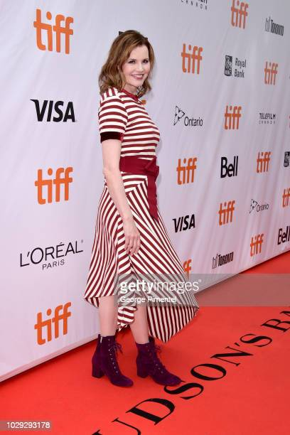 Geena Davis attends the This Changes Everything premiere during 2018 Toronto International Film Festival at Roy Thomson Hall on September 8 2018 in...