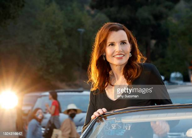 """Geena Davis attends """"Thelma And Louise"""" 30th Anniversary drive-in charity screening experience hosted by MGM and Cinespia at The Greek Theatre on..."""