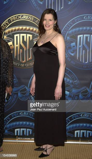 Geena Davis during 16th American Society of Cinematographers Achievement Awards at Century Plaza Hotel in Century City California United States