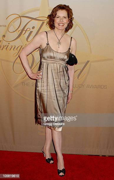 Geena Davis during 2006 Women In Film Crystal + Lucy Awards - Arrivals at Century Plaza Hotel in Century City, California, United States.